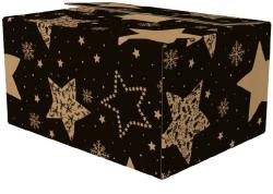 Kerstpakketdoos zwart ster